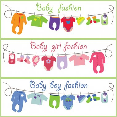 Cute cartoon baby set. Baby fashion