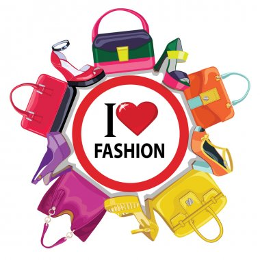 women's handbag and high-heeled shoes
