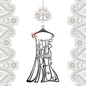 Silhouette of woman dress