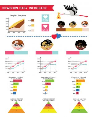 Detailed baby infographic