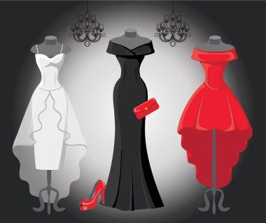 Set of  three party dresses