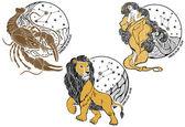 Fotografie Krebs, Löwe, Jungfrau und die Tierkreis sign.horoscope.stars