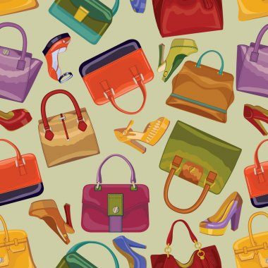 Female handbags and shoes