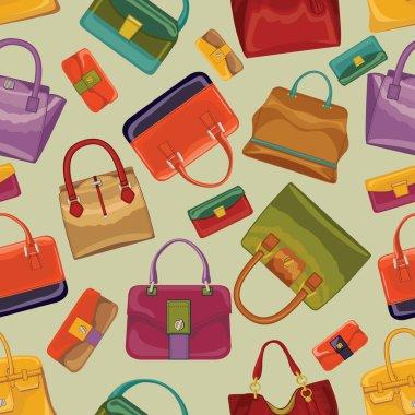 Female handbags seamless pattern