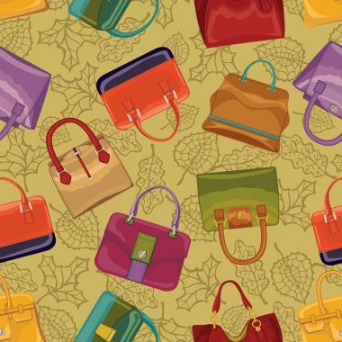 Woman handbags seamless pattern