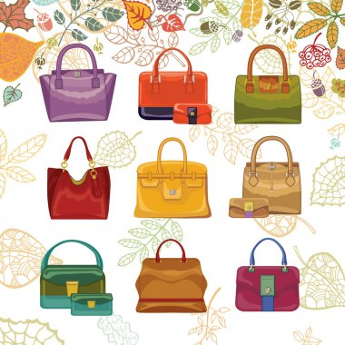 Autumn fashion. Women's handbags