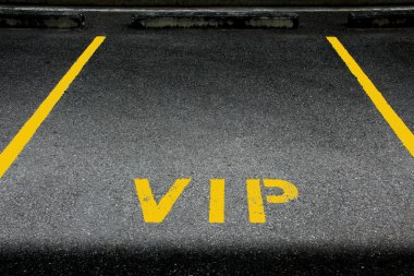 VIP service symbol with a first class reserved parking  with a b