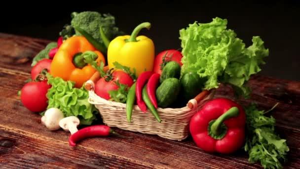 friss zöldségek, a fekete, zöldség csendélet,