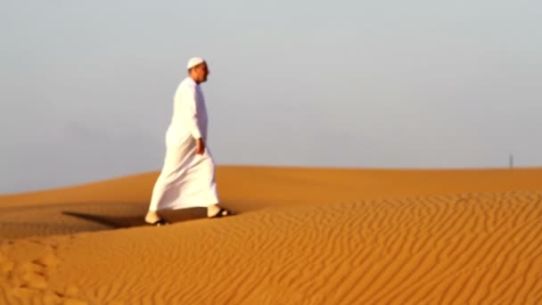 Arab man at  praying,and on the move