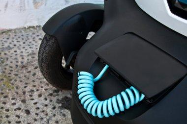 Dashboard in modern electric car
