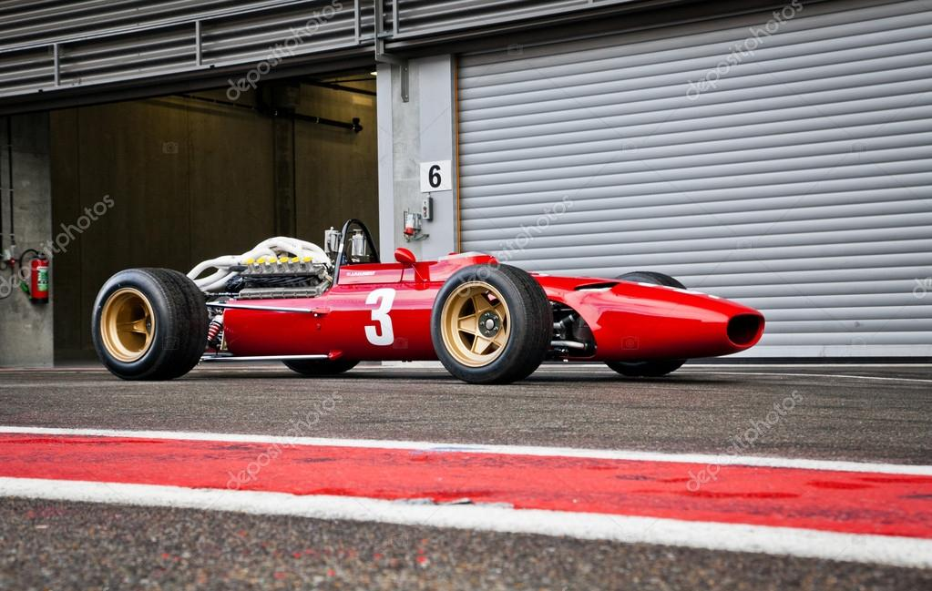 Old race car in action on track – Stock Editorial Photo © microlite ...