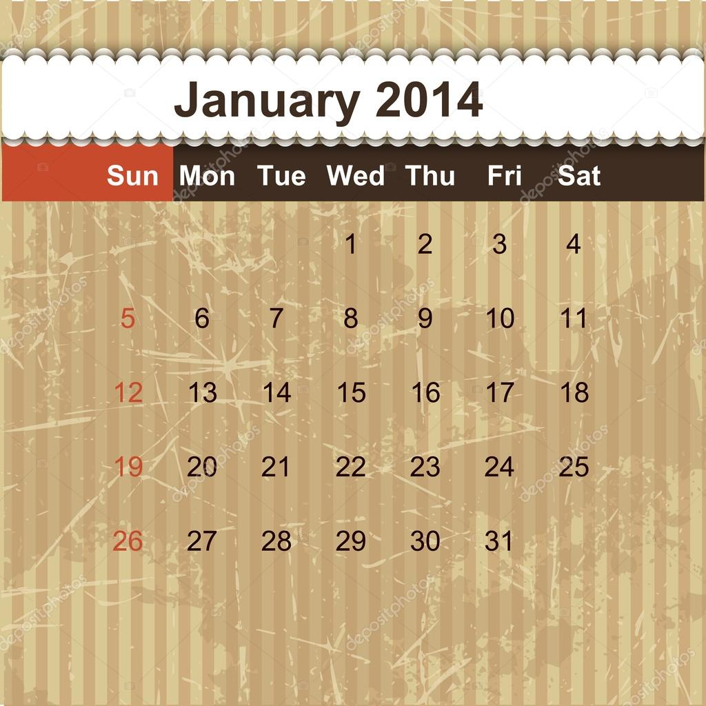 Kalender Planen Sie monatliche 2014 — Stockvektor © szikszaizsuzsa ...