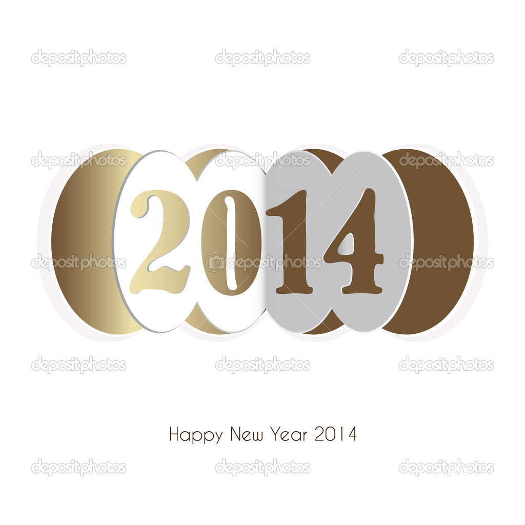 Happy new year 2014 greeting card design stock vector 2014 text design vector by szikszaizsuzsa m4hsunfo