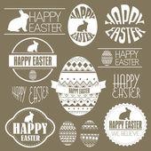 Frohe Ostern Vektor Set: Design-Elemente mit Ostereier Ostern