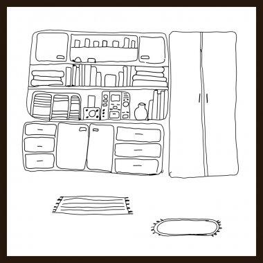 Vector Iillustrated interior elements