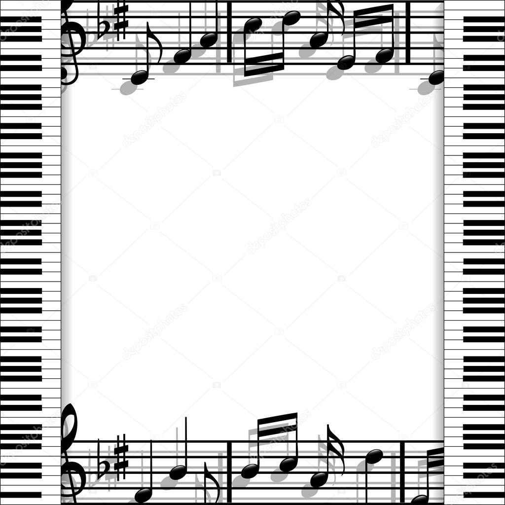 Musical frame — Stock Vector © andrijamarkovic #39649851