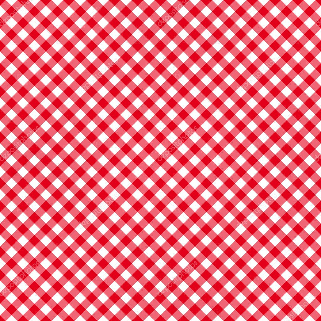 Red Table Cloth Seamless Pattern Stock Vector Blue