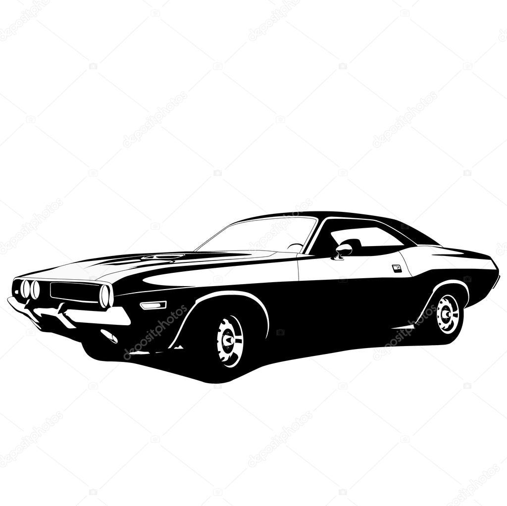 muscle car profile  u2014 stock vector  u00a9 ankmsn  35980029