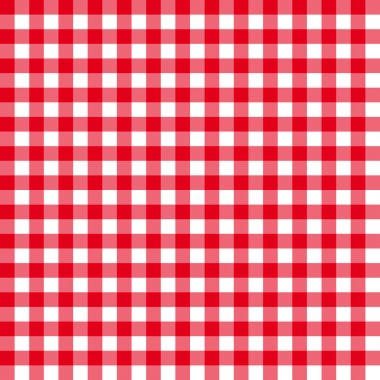 Table cloth seamless pattern red in line