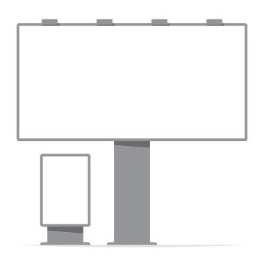 Billboard board and citylight, screen, contour