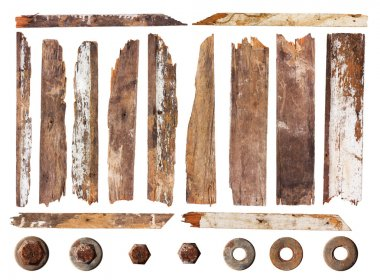 Set of wood plank