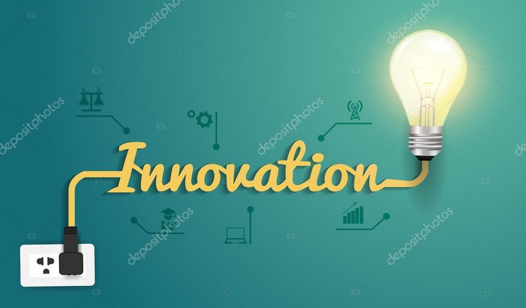Vector innovation concept with creative light bulb idea