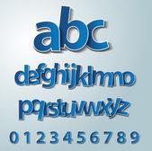 Fotografie Vector alphabet set, paper, stickers, labels, tags