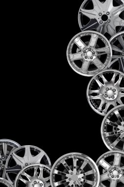 Car alloy wheel background template design