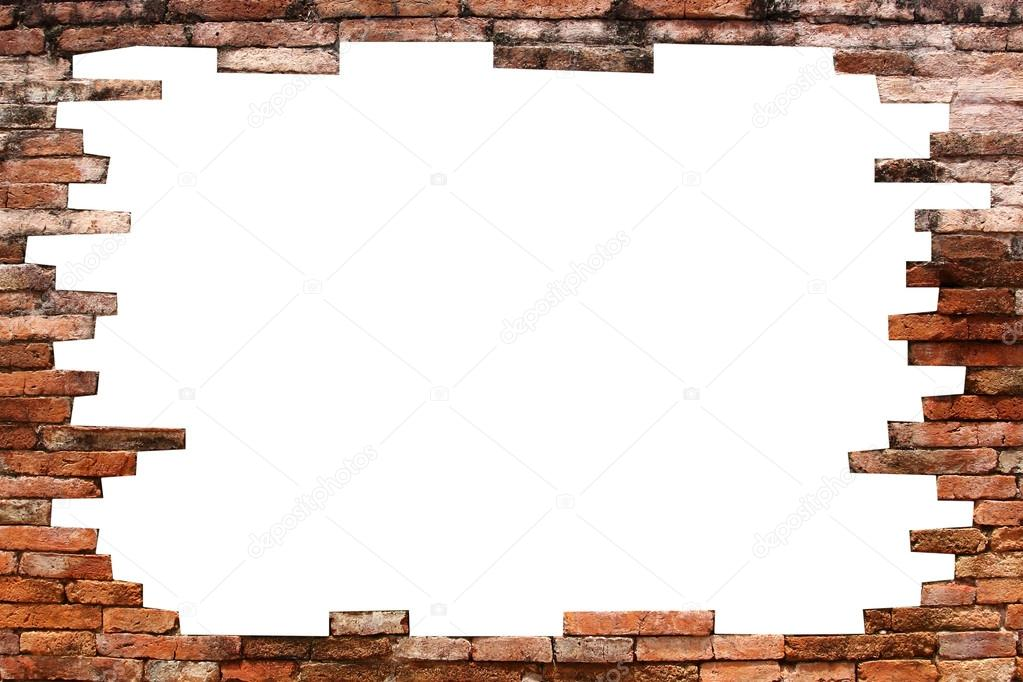 how to make a 4 inch hole in brick wall