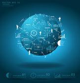 globální obchodní kolem koncepce světové ekonomiky