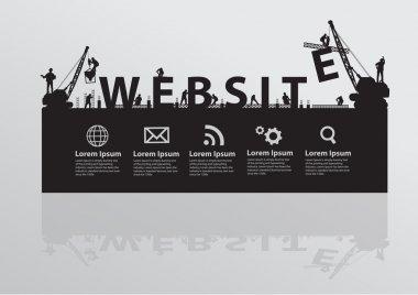Construction site crane building website text idea concept
