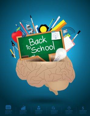 Creative brain mixed idea concept.