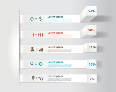 Modern business steps to success charts and graphs options banner