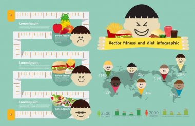Childhood obesity info graphic element
