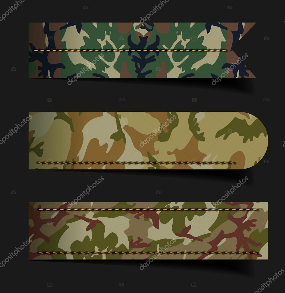 forma de patrón de tela de camuflaje — Vector de stock © koydesign ...