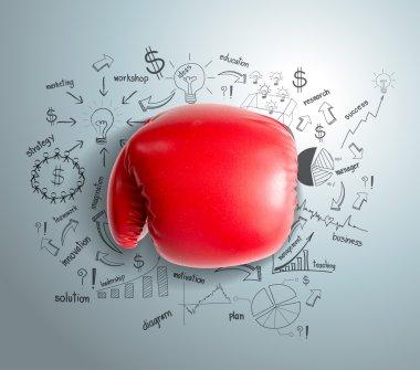 Business fighting idea concept