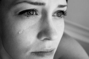 Crying woman.