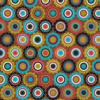 Seamless traditional floral folk pattern