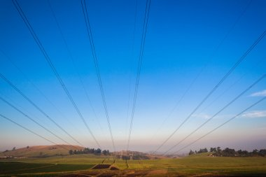 Electrical Power Lines Tower Structures
