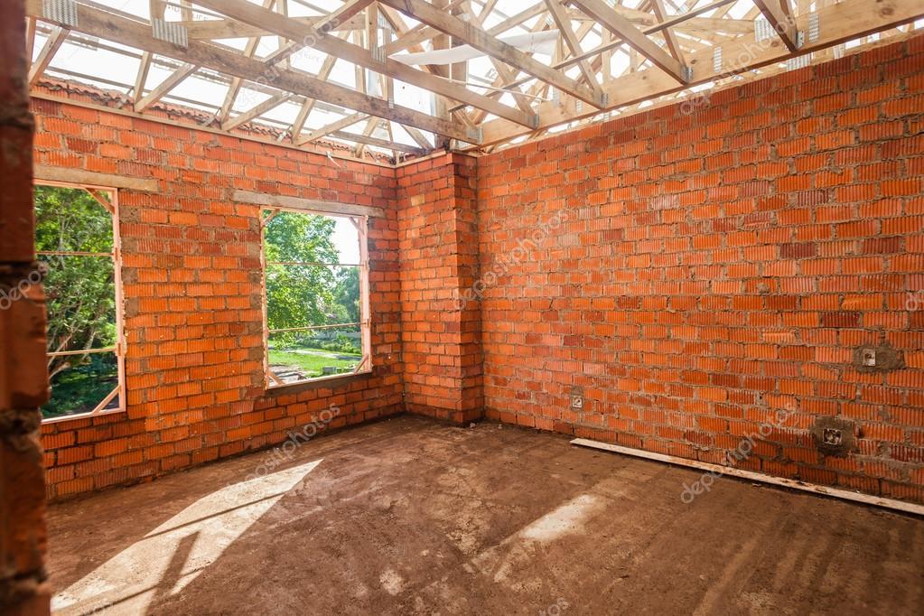 Huis bouw baksteen gips u stockfoto chrisvanlennepphoto