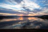 Dawn barvy dam vody rybolov