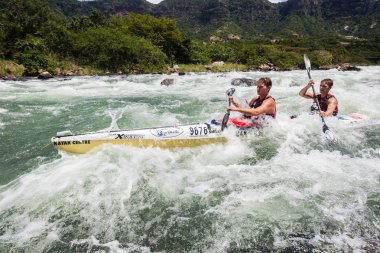 Canoe Dusi Race River Rapids Action