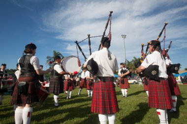 Scottish Pipers Drums Bands Gathering