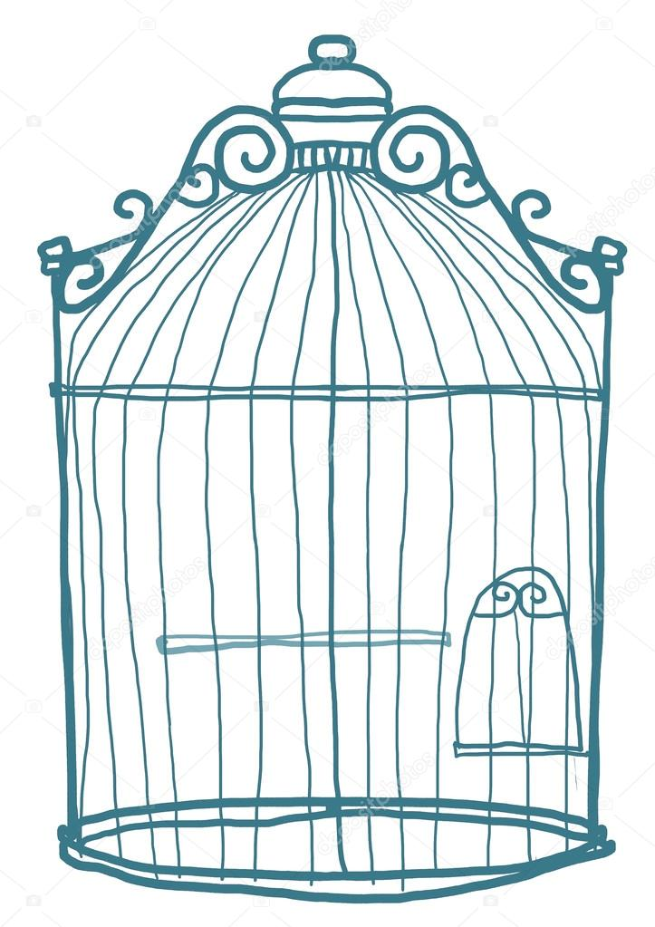 Bird Cage Art Cute Painting Stock Photo Gmm2000 43658183