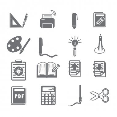 tools learning  icon set 3