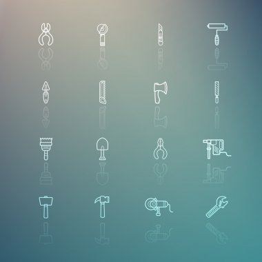 Tools icons on Retina background set.2