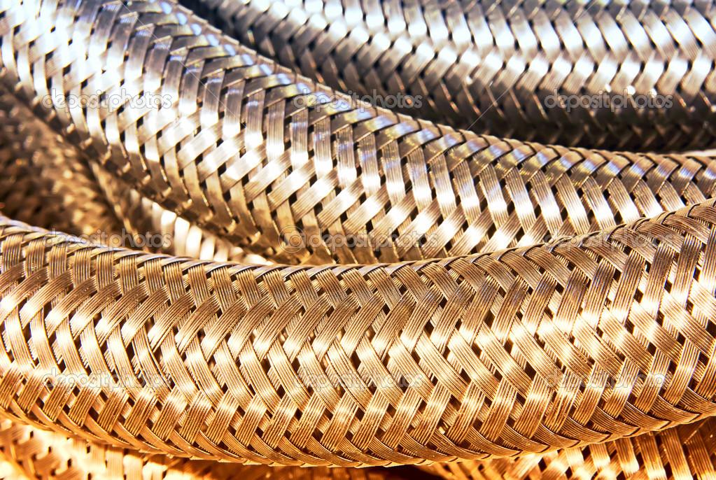 metallische Umflechtung closeup — Stockfoto © NYS #36173139