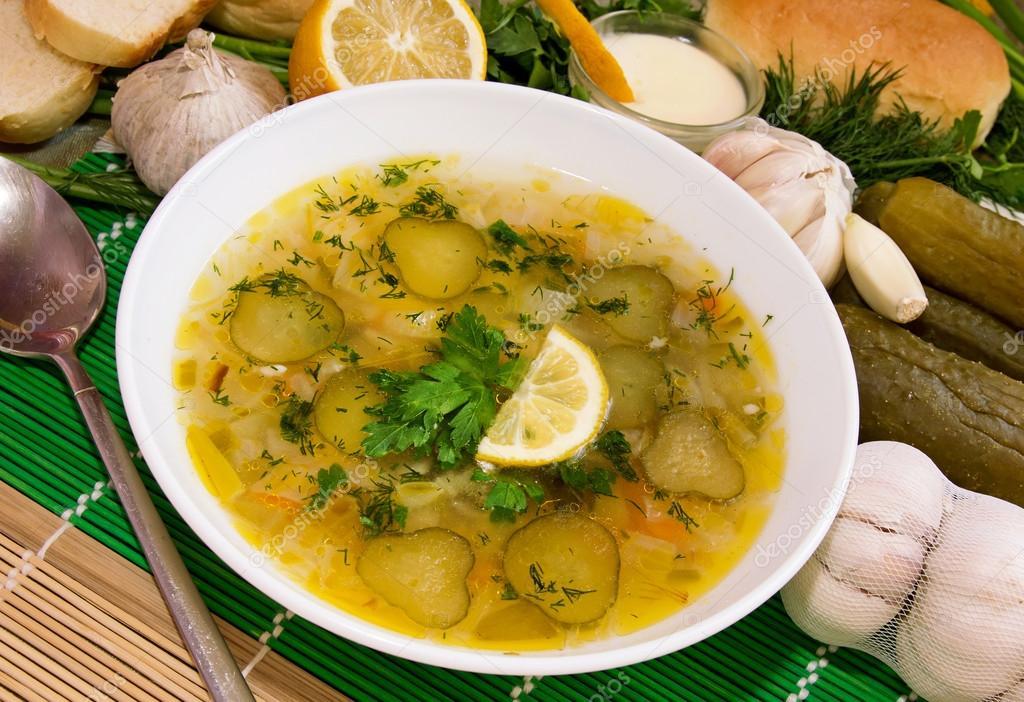 """Image result for """"Rassolnik"""" şorbası"""