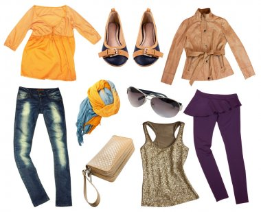 Female clothes collage