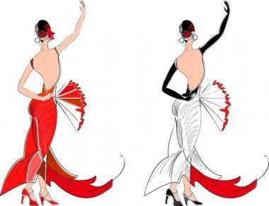 Flamenco dancer with fan